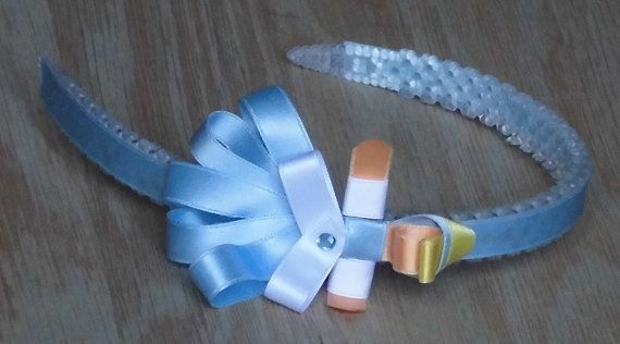 Handmade Hair Accessory Cinderella Headband Girls bows