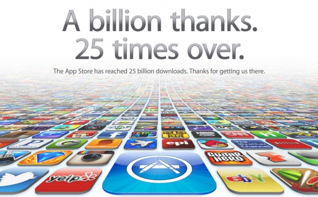 Apple reaches 25 billion iPhone and iPad app downloads