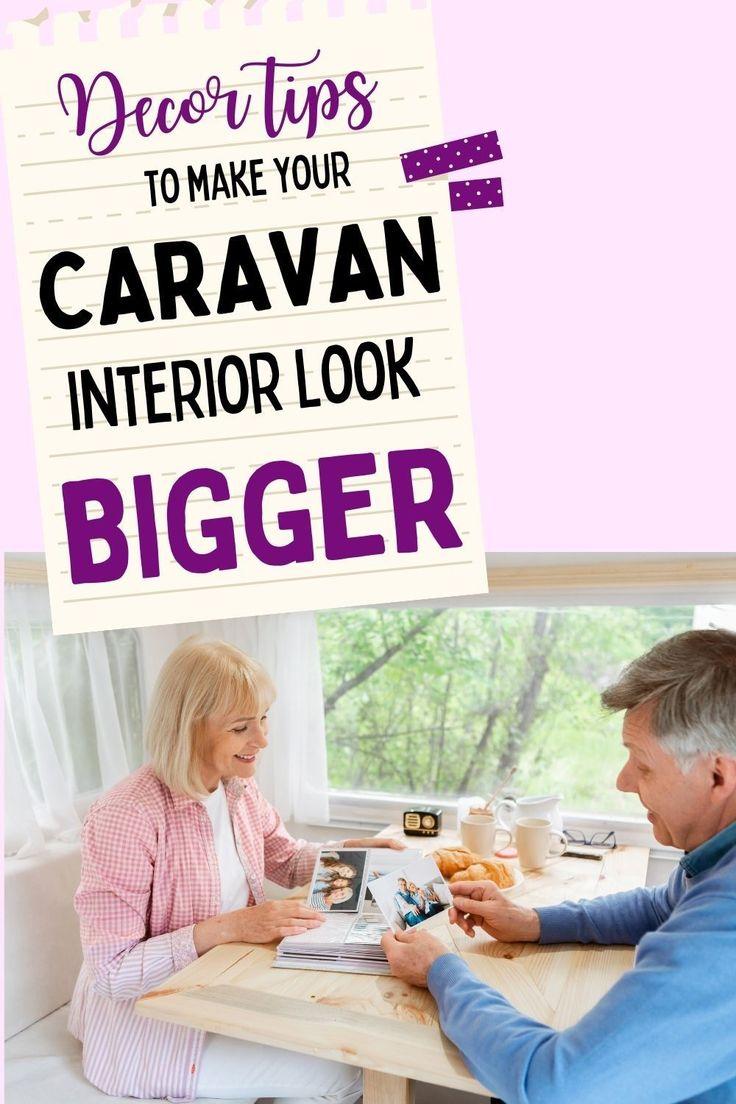 Ideas and tips for making the interior of your caravan feel more spcaious. #caravandecor   Caravan interior decor tips   Decorating your caravan   Caravan interior decor ideas   RV decor ideas