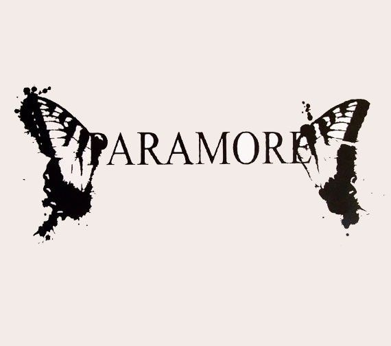 Paramore logo butterfly rubon vinyl decal by aStickyEnding on Etsy