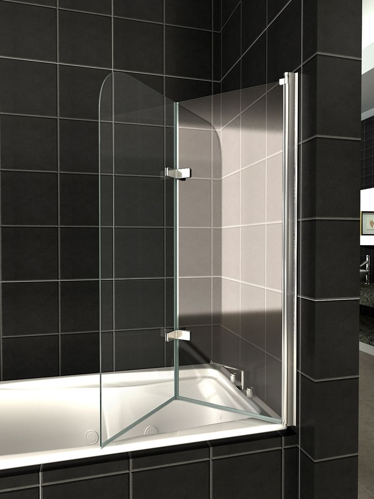folding glass shower doors | ... Glass Over Bath 2 Fold Folding Shower Screen Bath Door Panel & Seal