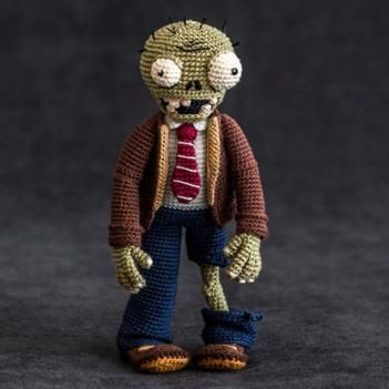 Zombie - Plants vs. Zombies amigurumi pattern by AradiyaToys
