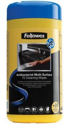 Влажные салфетки Fellowes FS-2210907 100 шт   Каталог товаров по сниженной цене.
