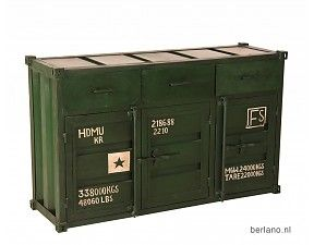 Kast container look - Dressoir T09 Groen