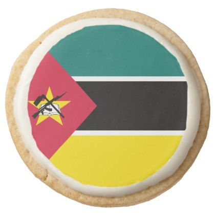#Mozambique Flag Round Shortbread Cookie - #Chocolates #Treats #chocolate