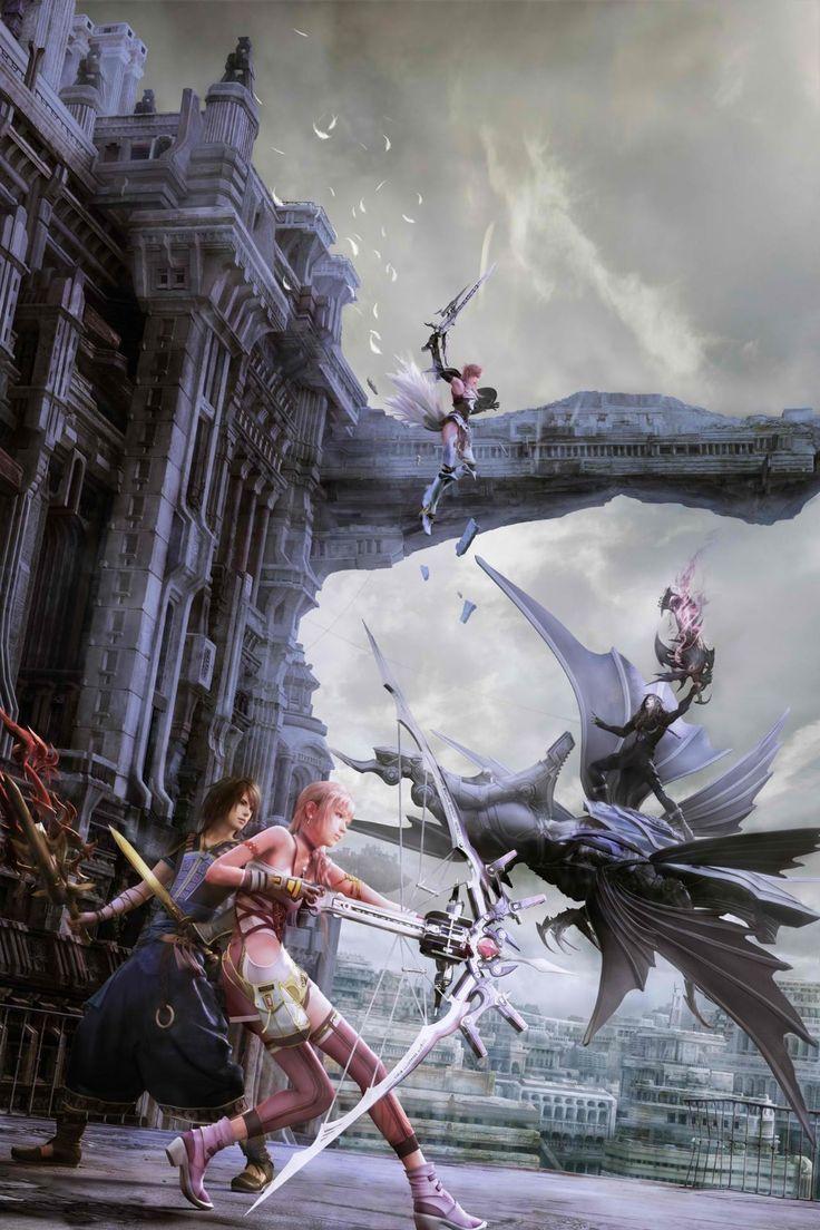 Final Fantasy XIII УС 13 Видео Игры Плакат 15x24 20x32 дюймовый Шелковый Ткань Холста Стены Искусства декор На Заказ Печати YX662