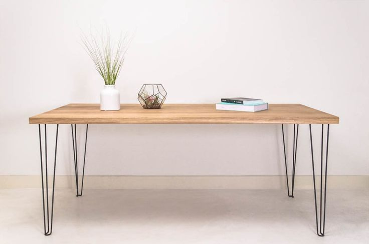 Oak Hairpin table by Baudt made in The Netherlands on CROWDYHOUSE