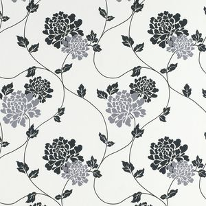 Isodore White Floral Wallpaper