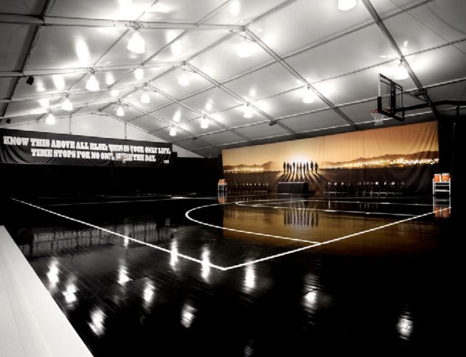 Midnight Black Court The Basketball Court Is Our Stage