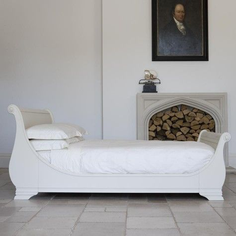 Manoir Painted Bed   Sleigh Beds   Wooden Beds   Beds | AND SO TO BED