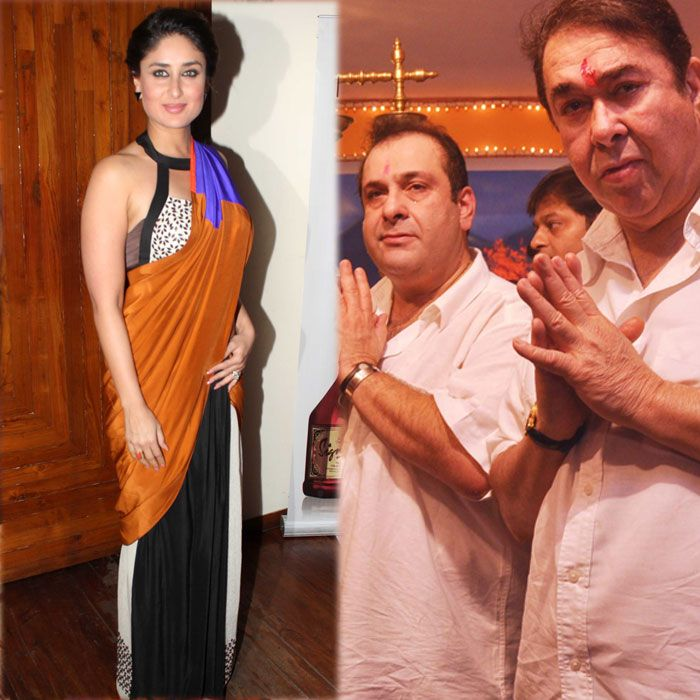 Kareena Kapoor Khan looked gorgeous as she attended a magazine launch featuring her on the cover. Meanwhile, her father celebrated Ganesh Utsav along with his brother Rajiv Kapoor at the RK Studios. (Photo: Varinder Chawla)