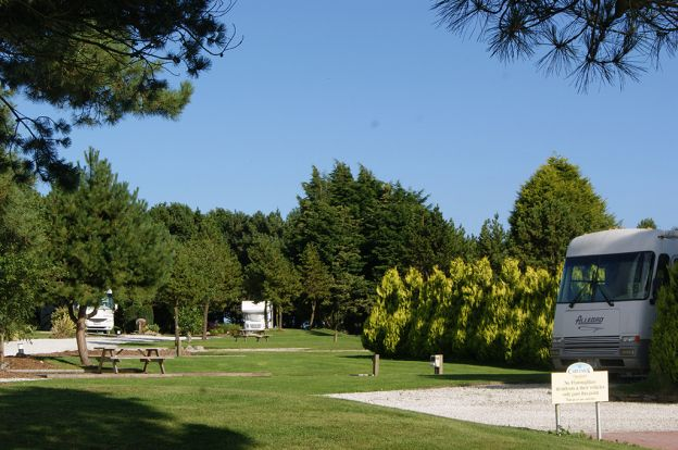 Carvynick Campsite, near Newquay, Cornwall.  Open all year