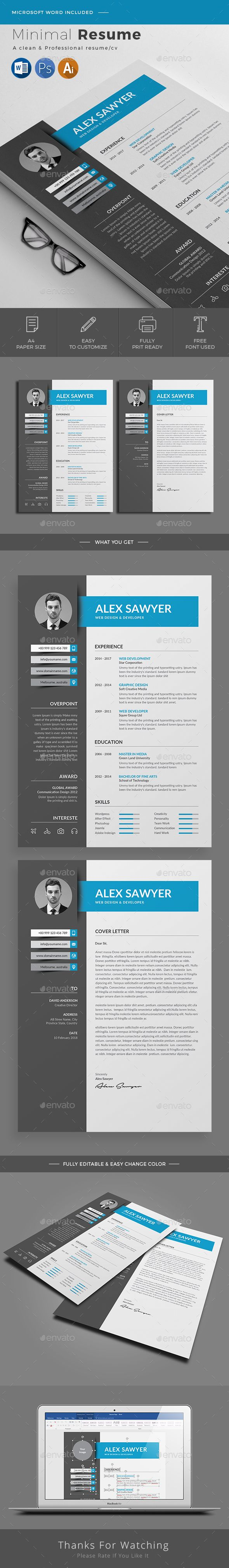 Resume Clean & Modern Resume/cv template to help you land that great job. The flexible page designs are easy to use and customize, so you can quickly tailor-make your resume for any opportunity.