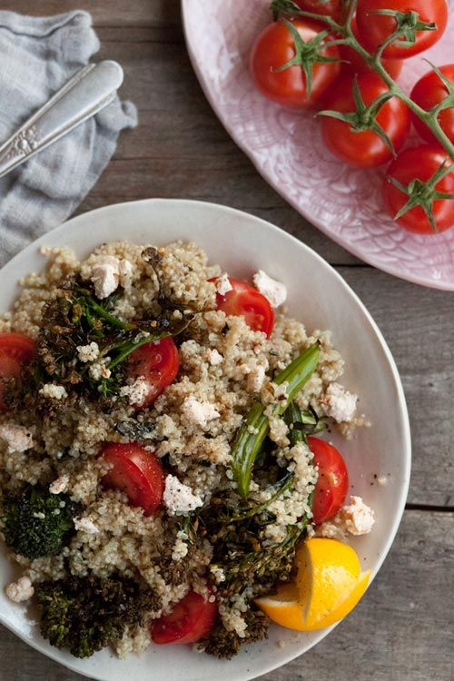 spicy roasted broccolini quinoa salad: Red Peppers, Salad Recipes, Broccoli Salad, Design Sponge, Roasted Broccolini, Quinoa Salad, Broccoli Quinoa, Spicy Roasted, Broccolini Quinoa