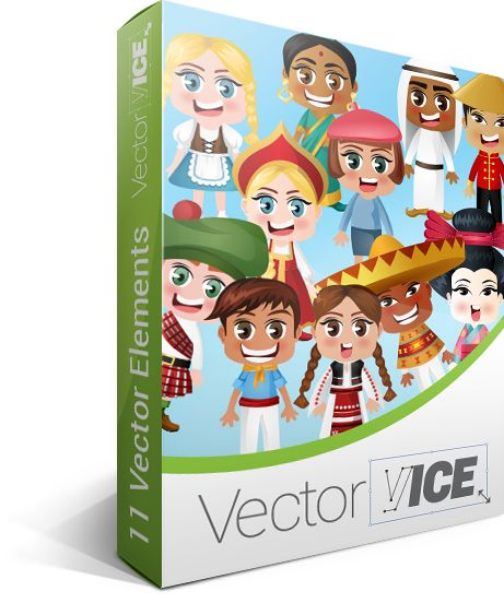 People of the World Vector Pack - download here: http://vectorvice.com/people-of-the-world-vector-pack.html