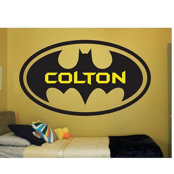 Batman Name Wall Quote Sign Vinyl Decal Sticker Bat Man Returns dark knight spiderman avengers marvel comics superman disney robin large big