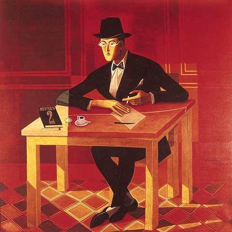 Portrait of Fernando Pessoa, 1954Jose de Almada-Negreiros - by style - Art Deco