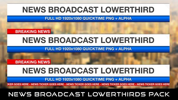 News Broadcast Lowerthirds Pack 3  3 Lowerthirds | Full HD 1920×1080 | Quicktime PNG alpha codec | Each 10 seconds.  #envato #videohive #motiongraphic #aftereffects #animatedlowerthird #breakingnews #broadcast #caption #color #elegant #modern #news #presentation #professional #shiny #simple #television #text #title