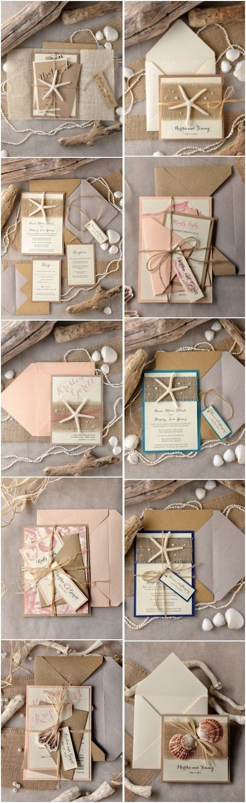Rustic beach wedding invitations @4LOVEPolkaDots  #beachwedding #rusticwedding #countrywedding #dpf