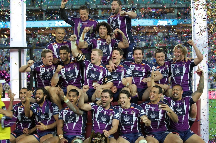Melbourne Storm celebrate as they are the 2012 NRL Premiers!