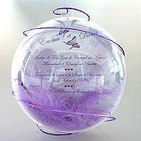 La Boule Géante Translucide Porte Menu ou Nom de Table | Décoration de table mariage | Mariage.