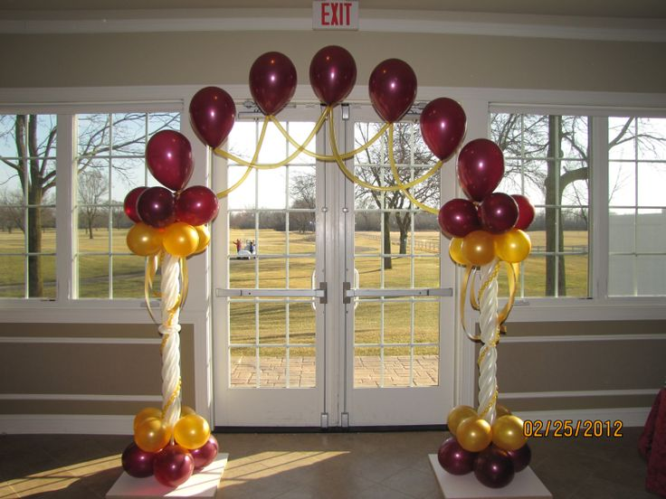 17 best images about wedding balloon column ideas on for Balloon decoration for engagement party