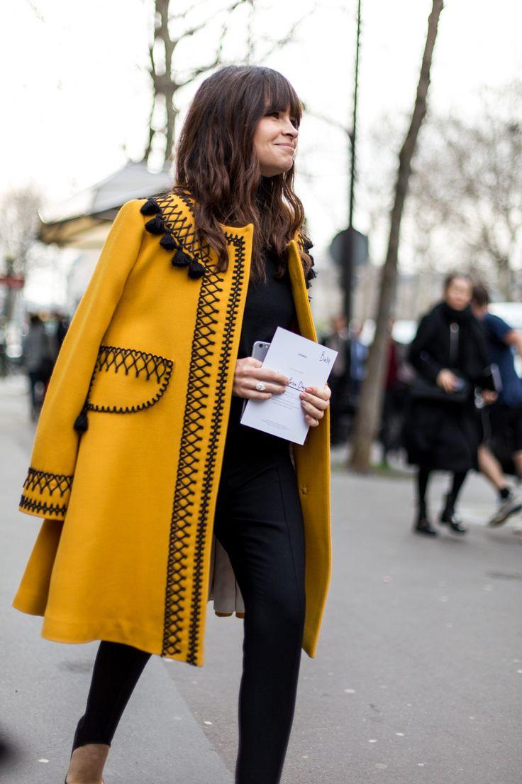 Black + yellow coat