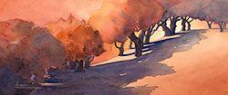 Acquerello pittura di paesaggio - stampe di paesaggio - Maud Durland