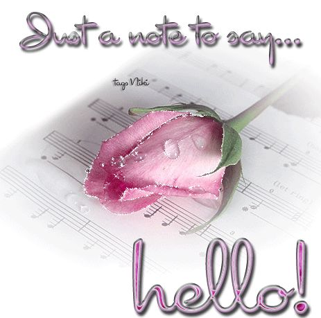 Hello My Friend Graphics | Just A Note To Say Hello Pictures, Photos, and Images for Facebook ...