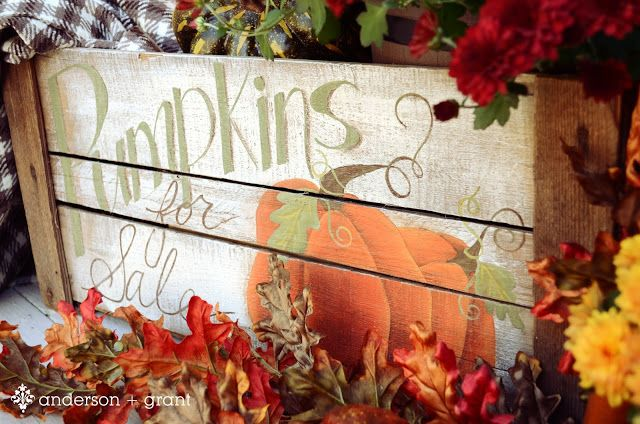 Hand-painted pumpkin crate | Mabey She Made It .... pattern included
