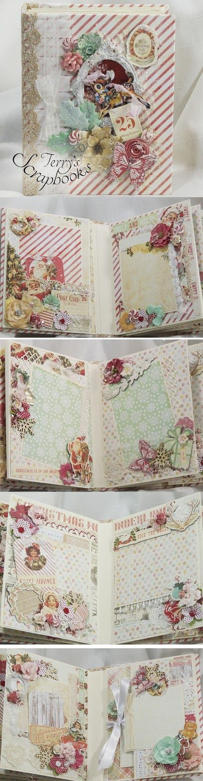 CUTE Sweet Peppermint book>>>Terry's Scrapbooks