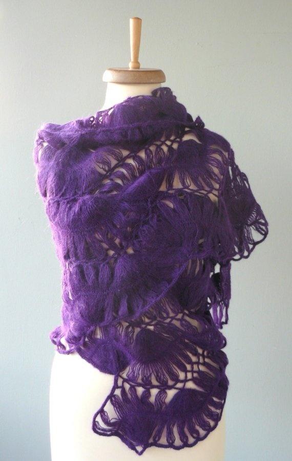 Purple Mohair Shawl <3