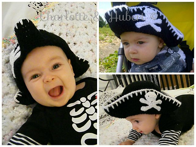 Ravelry: Baby Crochet Pirate Hat pattern by Amelia Abran