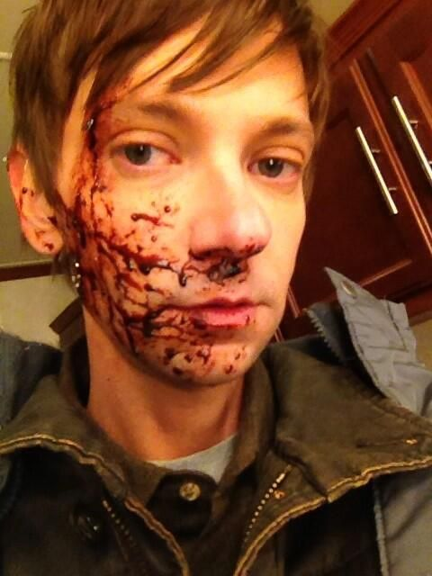 """This is what that make up looked like and you couldn't see it."" - DJ Qualls on Twitter during Supernatural 9x12 ""Sharp Teeth"""