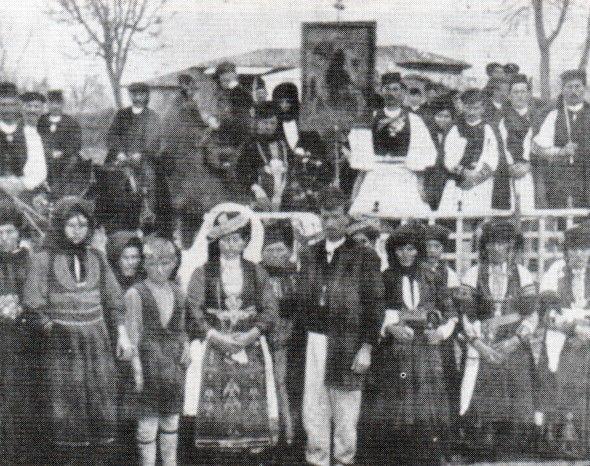 32. Γάμος με φλάμπουρο στους Καραγκούνηδες της Θεσσαλίας (αρχές 20ού αιώνα). Η σημαία στο γάμο, Ελευθέριος Π. Αλεξάκης