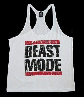 Mens Workout Tank Top-Racerback-Stringer Gym-Bodybuilding Tee T-Shirt