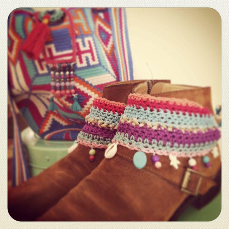 Cubre botas crochet
