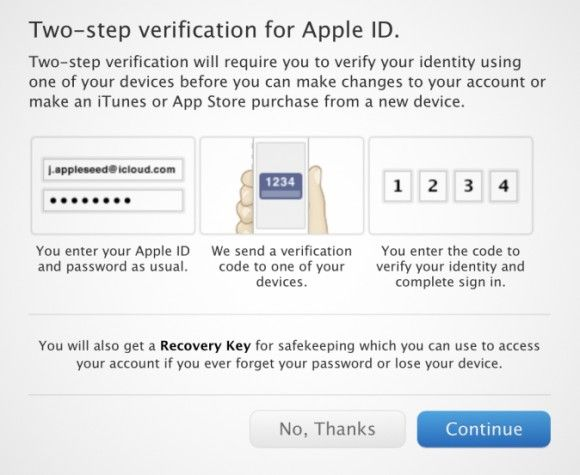 Apple Added two-steps Verification to iCloud for Extra Security