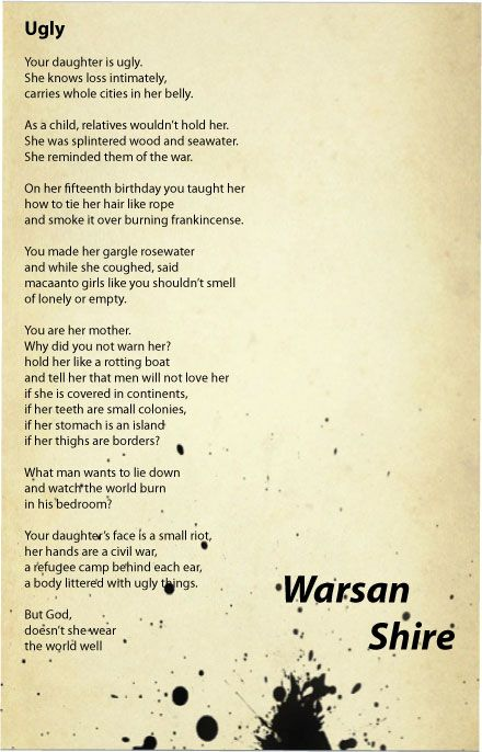 25 Best Ideas About Warsan Shire Poems On Pinterest