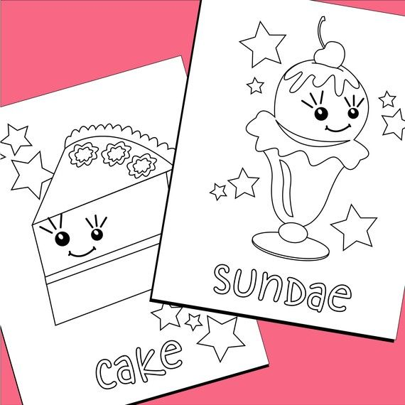 Coloring pages sweet treats printable pdf for Sweet treats coloring pages