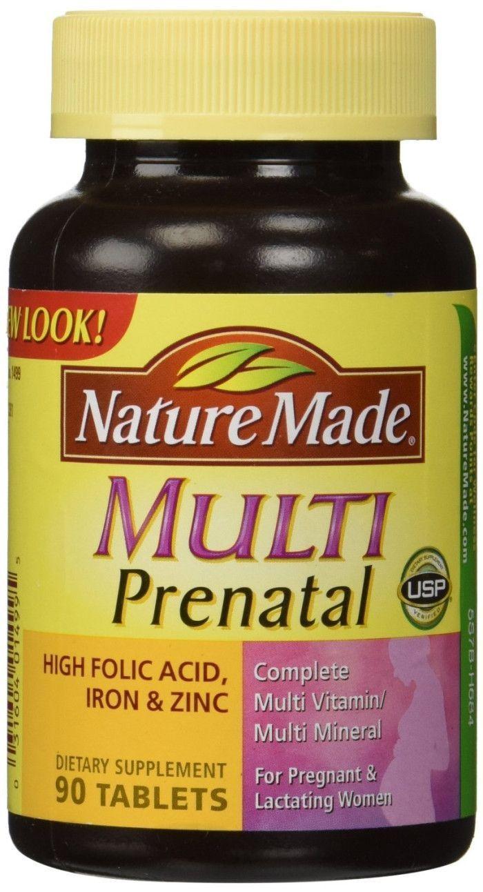 Nature Made Multi Prenatal Vitamins 90 Tablets Pregnancyvitamins Fertilite