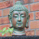 Design BUDDHA Kopf Highgloss Weiss Skulptur Deko Accessoire: Amazon.de: Garten