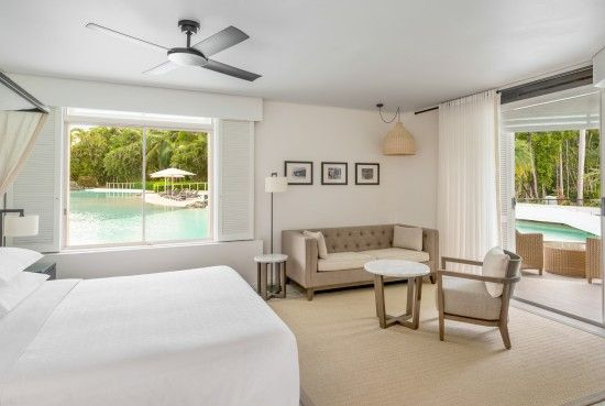 Sheraton Mirage Port Douglas Resort Lagoon Edge Studio Suite. I just LOVE that this suite has a direct swim out balcony. This is something I've always wanted to do.