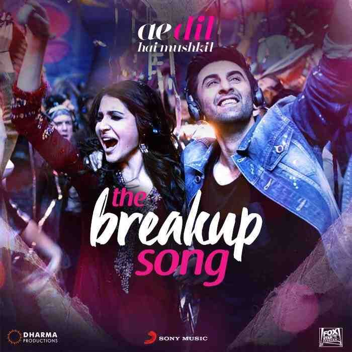 #ADHM's breakup celebration song is just a day away!  @AnushkaSharma @RanbirKapoor #ADHM  #breakups #newsong #exciting #music #love #dharmaproductions #sonymusic