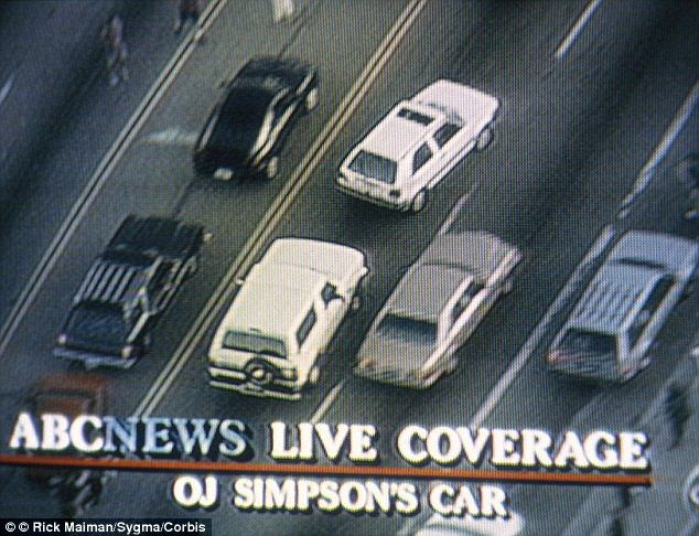 The pilot was also there to get footage of OJ Simpson's car chase in June 1994