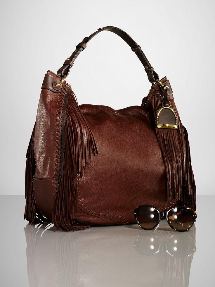 Whipstitched Fringe Hobo - Ralph Lauren Handbags Handbags - RalphLauren.com
