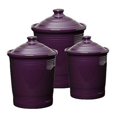 Fiesta Plum Canisters....ooo purple!