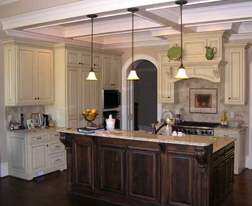 Glazed Crown Molding : Images about kitchen remodel january on