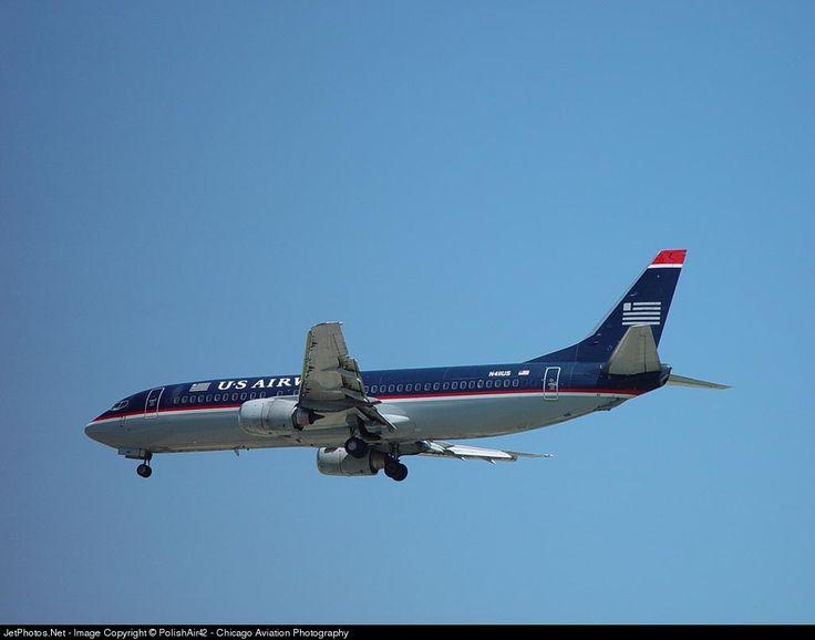 Boeing 737-401, US Airways, N411US, cn 23880/1596, first flight 20.9.1988 (Piedmont Airlines), US Airways delivered 27.2.1997, Scrapped, broken up 8/2004. Foto: Chicago, USA, 1.6.2002.