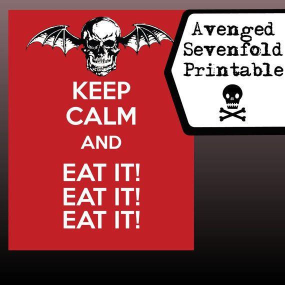 Avenged Sevenfold Printable Lyrics Art Keep Calm by